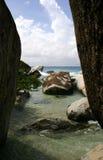 vierge de gorda de plage de bains Image libre de droits