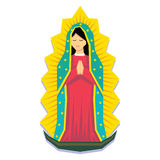 Vierge de Guadalupe Isolated On White Background illustration libre de droits