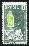 Vierge de Paranagua et plongeur Image stock