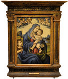 Vierge et enfant avec le saint Jean-Baptist Photographie stock