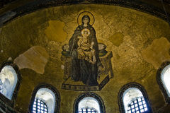 Vierge et l'enfant Image stock