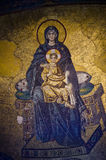 Vierge et le groupe d'enfant Image stock