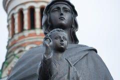 Vierge Marie avec l'enfant du Christ Photo stock