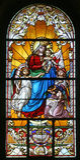Vierge Marie avec le bébé Jésus et les anges Images stock