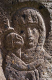 Vierge Marie bas-relief Image stock