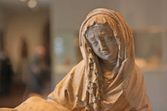 Vierge Marie semblant triste Photos stock
