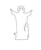 Vierge Mary Statue Path illustration de vecteur