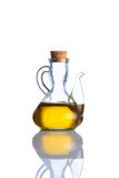 Vierge supplémentaire Olive Oil Isolated White Background Images stock