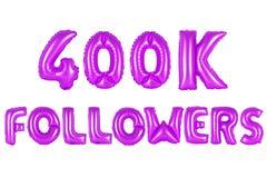 Vierhundert tausend Nachfolger, purpurrote Farbe Stockfoto