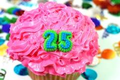 Viering Cupcake - Nummer 25 royalty-vrije stock afbeelding