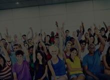 Viering die Pret Sociaal het Dansen Concept toejuichen stock afbeelding