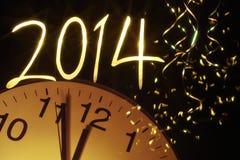 Viering het nieuwe jaar 2014 Stock Foto's