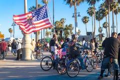 Viering, kunst en pret bij het Strand van Venetië, het Toerisme van Los Angeles, Californië, de V.S. in Californië royalty-vrije stock afbeeldingen