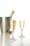 Viering met champagne Stock Fotografie
