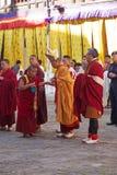 Viering in Trongsa Dzong, Trongsa, Bhutan Royalty-vrije Stock Foto's
