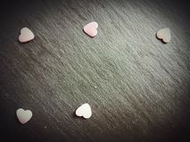 Viering van de de liefdeplaat van het harten de zoete symbool royalty-vrije stock afbeelding