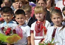 Viering van de eerste school bell_2 Royalty-vrije Stock Foto's