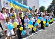Viering van de eerste school bell_6 Royalty-vrije Stock Foto