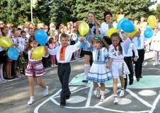 Viering van de eerste school bell_7 Stock Afbeelding