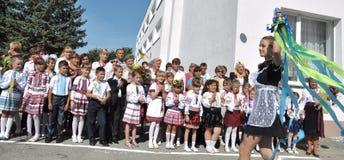 Viering van de eerste school bell_10 Stock Foto's