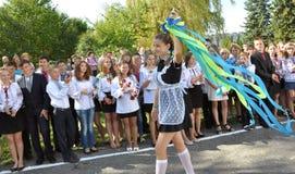 Viering van de eerste school bell_12 Stock Fotografie