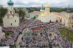 Viering van de 700ste verjaardag van de verjaardag van St Serg Royalty-vrije Stock Fotografie
