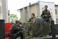 Viering van de 70Th Verjaardag van Victory Day Stock Fotografie