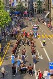 Viering van de Zwitserse Nationale Dag in Zürich, Zwitserland Royalty-vrije Stock Fotografie