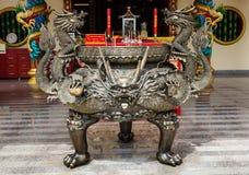 Viering van het Chinese nieuwe jaar in de tempel Saphan Hin Stock Fotografie