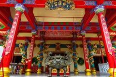 Viering van het Chinese nieuwe jaar in de tempel Saphan Hin Stock Afbeelding