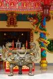 Viering van het Chinese nieuwe jaar in de tempel Saphan Hin Stock Afbeeldingen