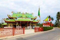 Viering van het Chinese nieuwe jaar in de tempel Saphan Hin Royalty-vrije Stock Fotografie