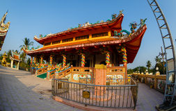 Viering van het Chinese nieuwe jaar in de tempel Saphan Hin Stock Foto's