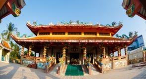 Viering van het Chinese nieuwe jaar in de tempel Saphan Hin Stock Foto