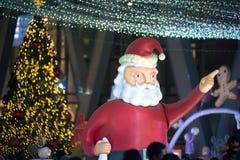 Viering van Kerstmis en Nieuw jaar in Bangkok Stock Afbeeldingen