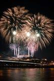 Viering van Nieuwjaar in Bratislava, Slowakije Stock Afbeelding