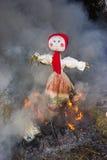 Viering van Shrovetide - traditionele Russische vakantie Stock Fotografie