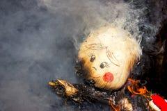 Viering van Shrovetide - traditionele Russische vakantie Royalty-vrije Stock Afbeeldingen