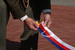 Viering van Victory Day in Praag, Tsjechische Republiek Royalty-vrije Stock Fotografie