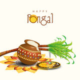 Viering van Zuiden Indisch festival, Gelukkige Pongal royalty-vrije illustratie
