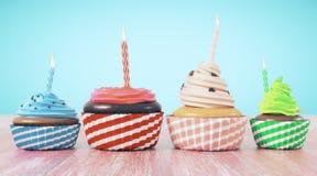 Viering, verjaardag, voedselconcept Stock Fotografie