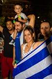 Vieringen in Griekenland na de referendumresultaten Royalty-vrije Stock Afbeelding