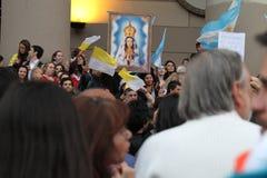 De Vieringen van de Paus van Buenos aires Royalty-vrije Stock Afbeelding