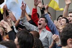 De Vieringen van de Paus van Buenos aires Stock Foto's
