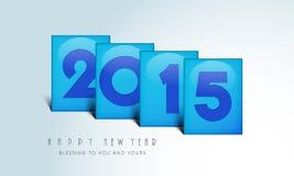 Vieringen van Gelukkig Nieuwjaar 2015 Royalty-vrije Stock Foto's