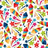 Vierings feestelijk naadloos patroon met kleurrijk Stock Afbeeldingen