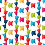 Vierings feestelijk naadloos patroon met slinger Royalty-vrije Stock Fotografie