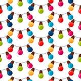 Vierings feestelijk naadloos patroon met slinger Royalty-vrije Stock Afbeeldingen