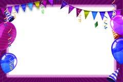 Vieringsachtergrond met de ballons en de voorwerpen van Carnaval Stock Foto