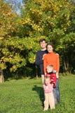 Vierköpfige Familie Lizenzfreie Stockbilder